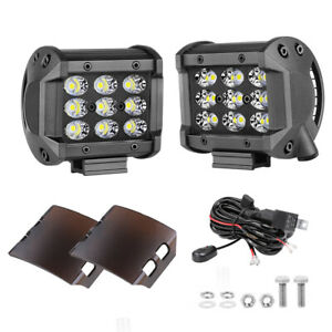 2x 300w Led Work Light Bar Pods Combo Flood Spot Fog Lamps Offroad 4wd Wiring
