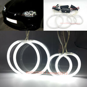 Ccfl Halo Rings For Seat Ibiza 6l Cordoba Lci 2003 2009 Headlight Angel Eye Drl