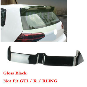 Fit For Vw Golf Mk7 Vii 2015 2020 Black Rear Tailgate Roof Top Spoiler Abs Wing