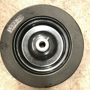 10 x3 25 solid Finish Mower Wheel Tire 3 4 id Manufacturing Defect Sold As It Is