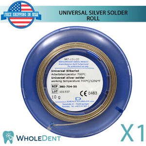 Orthodontic Dental Universal Silver Solder Roll Wire Dentaurum 10g For Bands