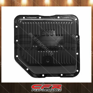 Fit Chevy Gm Turbo Th 350 Black Steel Finned Stock Capacity Transmission Pan