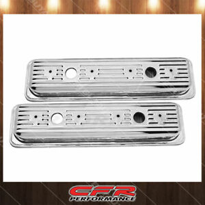 Fit 87 00 Chevy Gmc 5 0l 5 7l Center Bolt Steel Valve Covers W Bolts Chrome