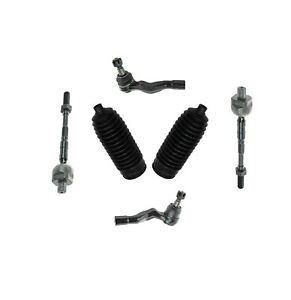 6 Pc Inner Outer Tie Rod Ends Bellow Boots Kit For Infiniti G35 Nissan 350z