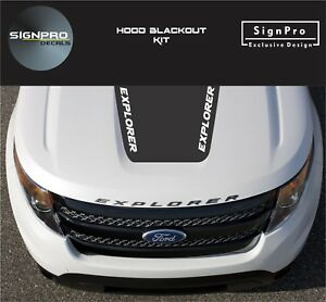New Hood Blackout Kit 3 Decals Fits Ford Explorer 2012 18 Suv Rally Stripes