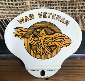 Vintage War Veteran License Plate Topper Grammes Allentown Pa