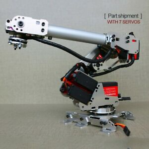 6 axis Mechanical Robotic Arm Industrial Manipulator Robot Arm Frame 7 Servos Xr