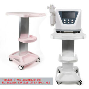 White pink Abs Aluminum Alloy Beauty Instrument Trolley Stand Medical Cart 4kg