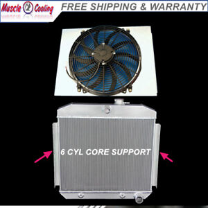 Kks Radiator Shroud 16 Fan 55 56 57 Chevy Bel Air Del Ray 6cyl Core Support