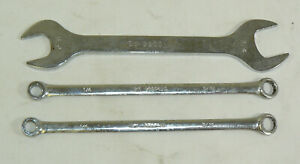 Three Vintage Ibm Wrenches 9900090 9900426 2 Box Open End Wrench Chrome Japan