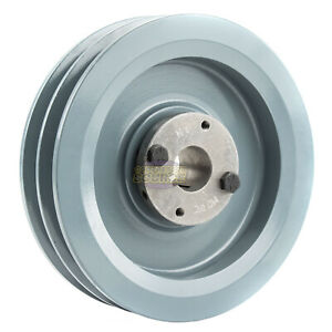 B Section Dual Groove 2 Piece 6 75 Pulley W 1 Sheave Shiv Cast Iron 5l V Belt