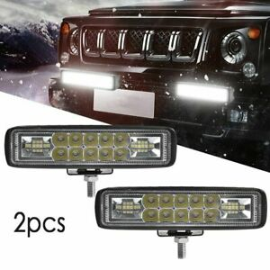 2x 6inch 816w Cree Led Work Light Bar Spot Offroad Atv Fog Truck Lamp 4wd 12v 6