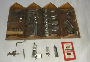 1889 Antique Singer Sewing Treadle Machine Wooden Puzzle Box With Attachments