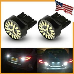 White 7440 7441 Led Back Up Reverse Light Bulbs Fits Honda Accord Civic Odyssey