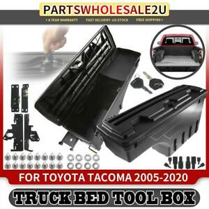 2x Left Right Truck Bed Storage Box Toolbox For Toyota Tacoma 2005 2020 Pickup