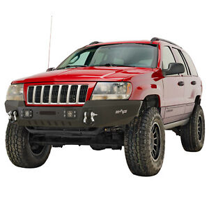 Assembled Front Bumper With Led Lights Fit 99 04 Jeep Grand Cherokee Wj