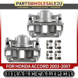 2x Front Left Right Brake Calipers W Bracket For Honda Accord 2003 2007 3 0l