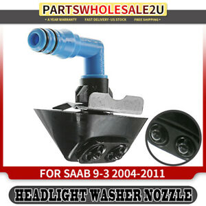 Headlight Washer Jet Nozzle Right Side For Saab 9 3 2004 2011 W cover 12803973