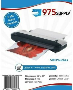 975 Supply 5 Mil Menu Laminating Pouches 9 X 11 5 500 pack