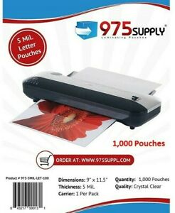975 Supply 5 Mil Letter Laminating Pouches 9 X 11 5 1 000 pack