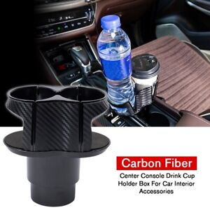 Abs Carbon Fiber Center Console Drink Cup Holder For Car Interior Parts Us Stock