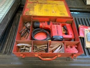 Hilti Te12 Hammer Drill In Case W 11 Bits And Keyless Chuck Adapter