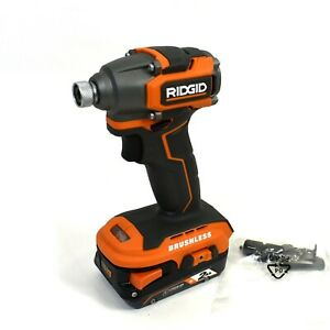 Ridgid 18v Subcompact Brushless 1 4 In Impact Wrench W 2 0 Ah Battery R8723