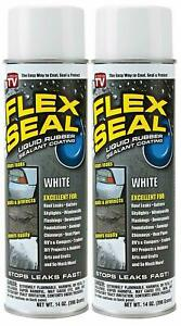 Flex Seal Spray Rubber Sealant Coating 14 oz White 2 Pack