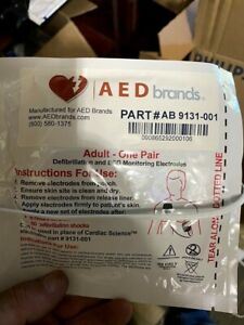 Cardiac Science Powerheart G3 Adult Aed Pads electrodes Training