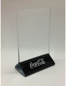 12 Black Plastic Coca Cola Coke Table Bar Top Restaurant Menu Display Stands 4x6