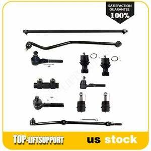 For 1993 1998 Jeep Grand Cherokee 11pcs Front Ball Joints Tie Rods Track Bar