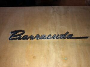 First Generation Plymouth Barracuda Script Fender Badge 1964 Early 1965