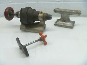 Lathe Precision Lathe Headstock And Tailstock Vintage Jewelers Parts As Is