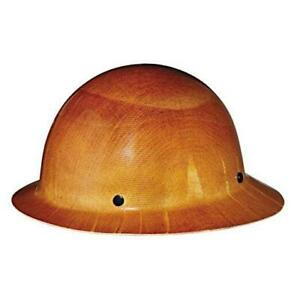 Msa Tan Skullgard Hard Hat With Staz on Suspension And Full Brim 454664