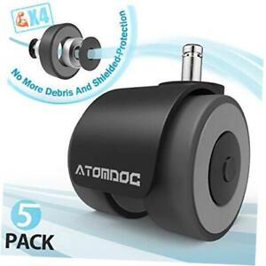 Atomdoc Office Chair Caster Wheels Newly Revolutionary Quadruple Ball Bearing D