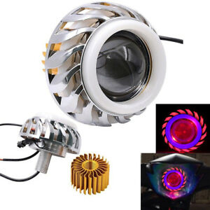 Hi Lo Beam Led Projector Headlight For Motorcycle Angel Eyes Halo Ring Devil Eye