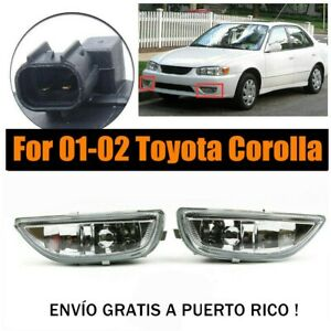 Pair Of Lh Rh Front Fog Driving Lamp Light Clear Lens For 01 02 Corolla