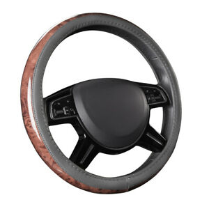 Car Pass Car Steering Wheel Cover Gray Color Leather Non slip Universal For Cars