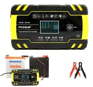 8a Smart Automatic Car Battery Charger Jump Starter Pulse Repair 12v 24v Agm gel