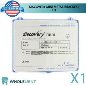 Orthodontic Dental Discovery Mini Metal Brackets Braces Kit Roth Dentaurum 20pcs