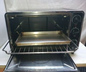 General Electric Large Capacity Counter top Toaster Oven Bake Broil Toast black