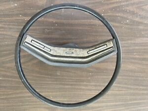 1978 79 Ford Pickup Black Steering Wheel Bronco Econoline Oem W Horn Cruise