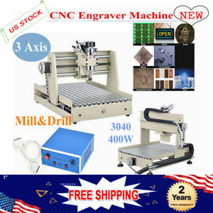 Cnc 3040 3 Axis Wood Milling Machine Pcb Engraving Router Engraver 400w Dc Motor
