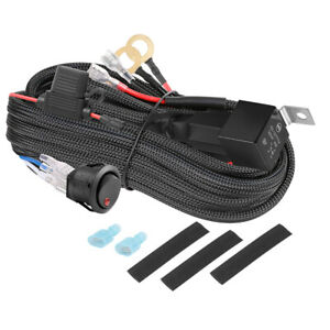 Wiring Harness Kit 40a 12v Switch Power On Off Relay Fuse For Led Fog Light Bar