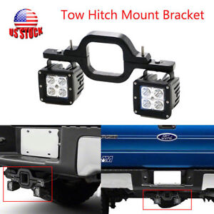 3 Tow Trailer Mount Bracket Tow Hitch Reverse Backup Running Led Lights Pod Bar