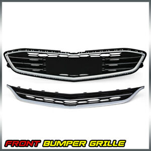 For 2016 2018 Chevy Malibu Honeycomb Mesh Grill Front Bumper Upper Lower Grille