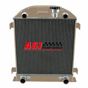 4 Row Aluminum Radiator For 1932 Ford Model A Ford Flat Head V8 Engine 1930 1931