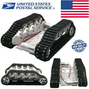 Robot Tank Chassis Metal Independent Suspension System For Robotics Diy Kit Us