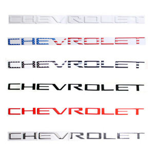 3d Raised Letters Inserts Emblem Fit For Chevrolet Silverado Hd 19 20 Tailgate