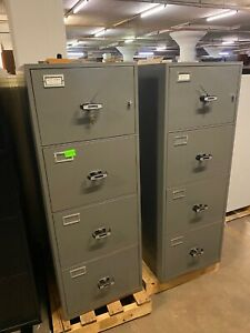 4dr 20 1 2 wx31 dx55 3 4 h Legal Fire proof File Cabinet By Meilink W lock Key